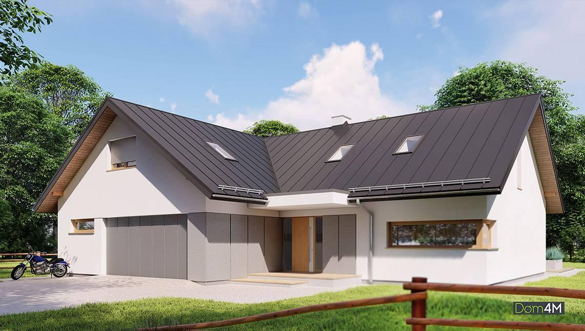 Проект элегантного двухэтажного дома со вторым светом
