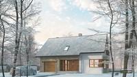 Двухэтажный дом жилой площадью более 70 квадратов с гаражом