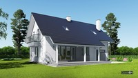 Проект мансардного дома с красивой кухней-студией