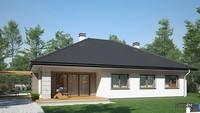 Проект одноэтажного дома с гаражом на две машины