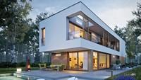Стильный величественный двухэтажный коттедж