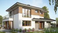 Загородный двухэтажный дом для большой семьи