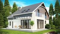 Дом с панорамными окнами в столовой