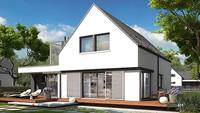 Красивый двухэтажный дом с восхитительной верандой