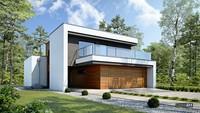 Современный двухэтажный дом с шикарной террасой