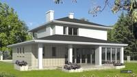 Проект оригинального двухэтажного дома