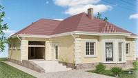 Одноэтажный дом с тремя спальнями и гаражом на одно авто