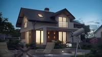 Проект дома с интересными балконами