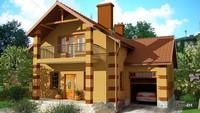 Уютный двухэтажный дом с просторной гостиной