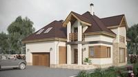 Уютный дом сложной конфигурации