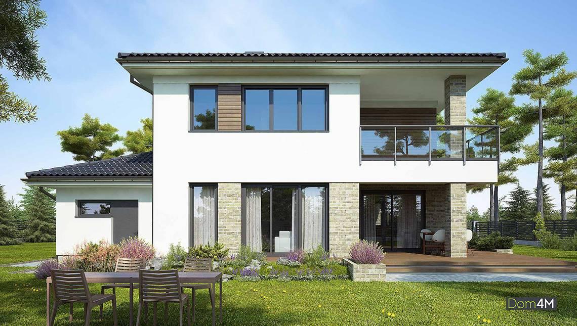 Просторный двухэтажный дом, наполненный светом