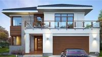 Красивый двухэтажный дом аристократического вида