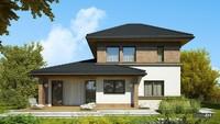 Проект двухэтажного дома для большой семьи