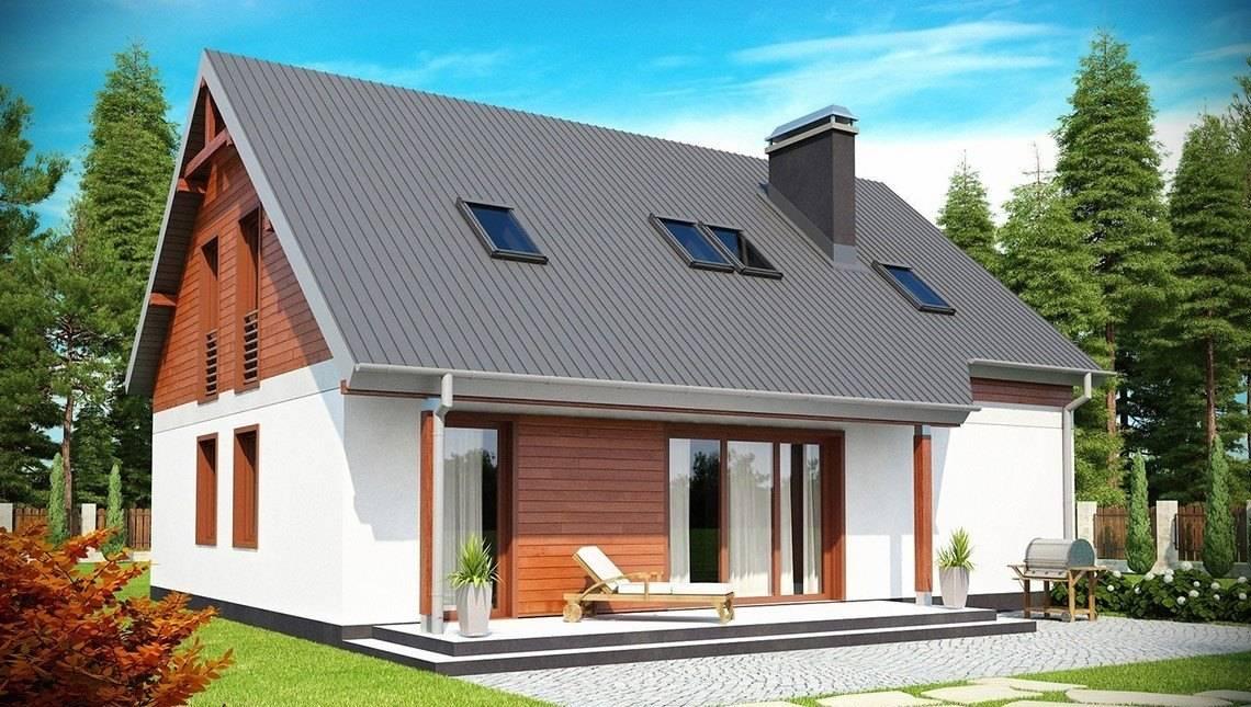 Проект уютного дома в традиционном стиле с двускатной крышей