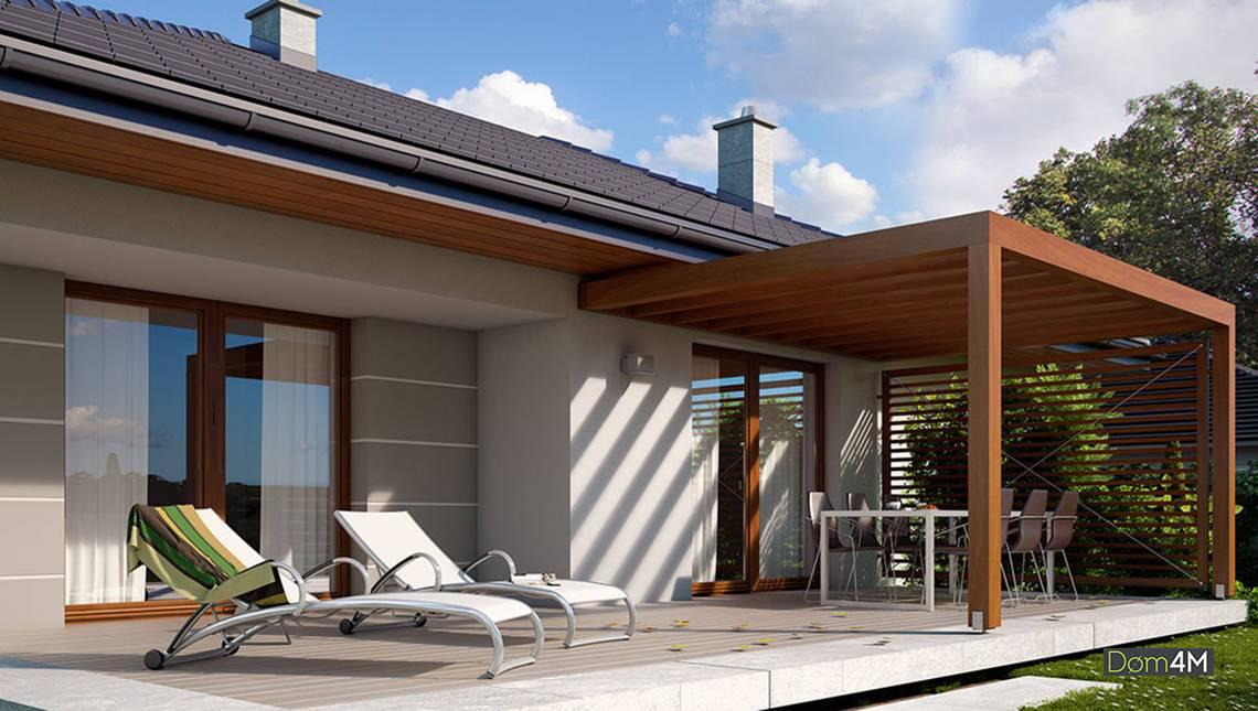 Проект классического коттеджа в духе Западной Европы площадью 103 кв. м