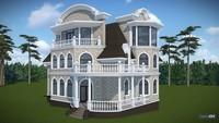 Проект особняка в духе французской классики с цокольным этажом