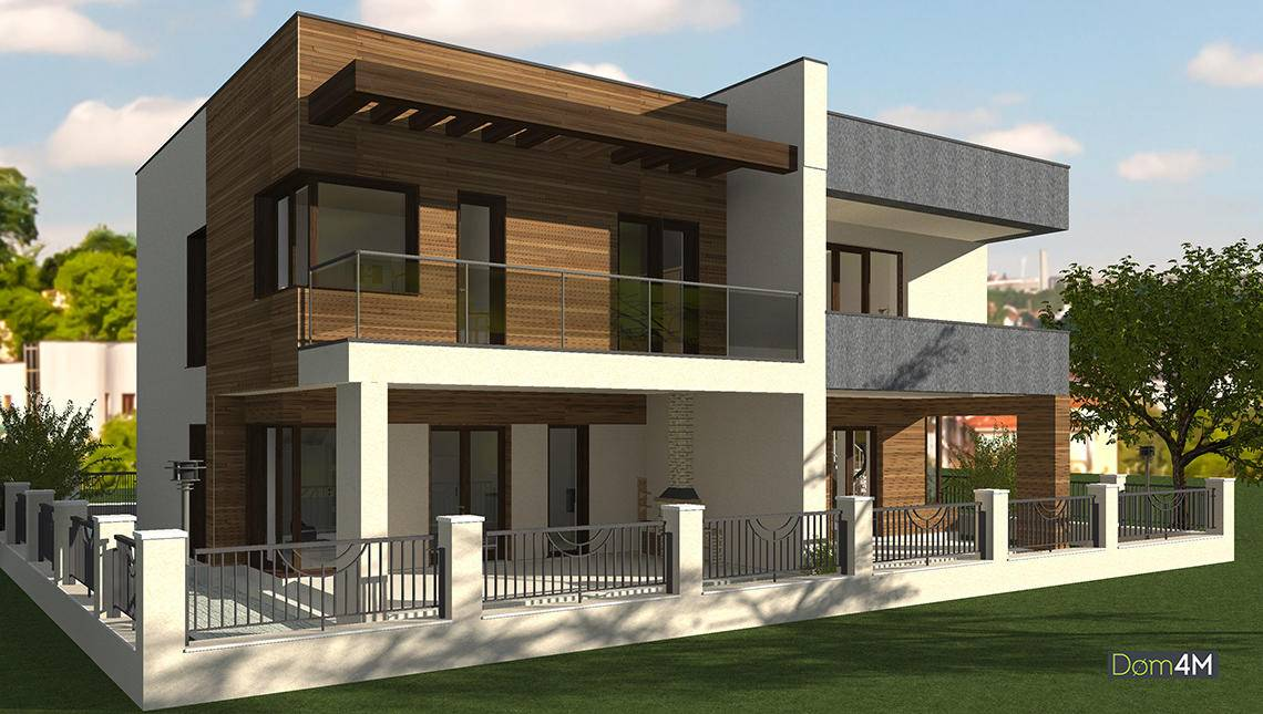 Проект эксклюзивного современного особняка жилой площадью 122 кв. м