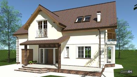 Европейский стильный особняк общей площадью 225 кв. м