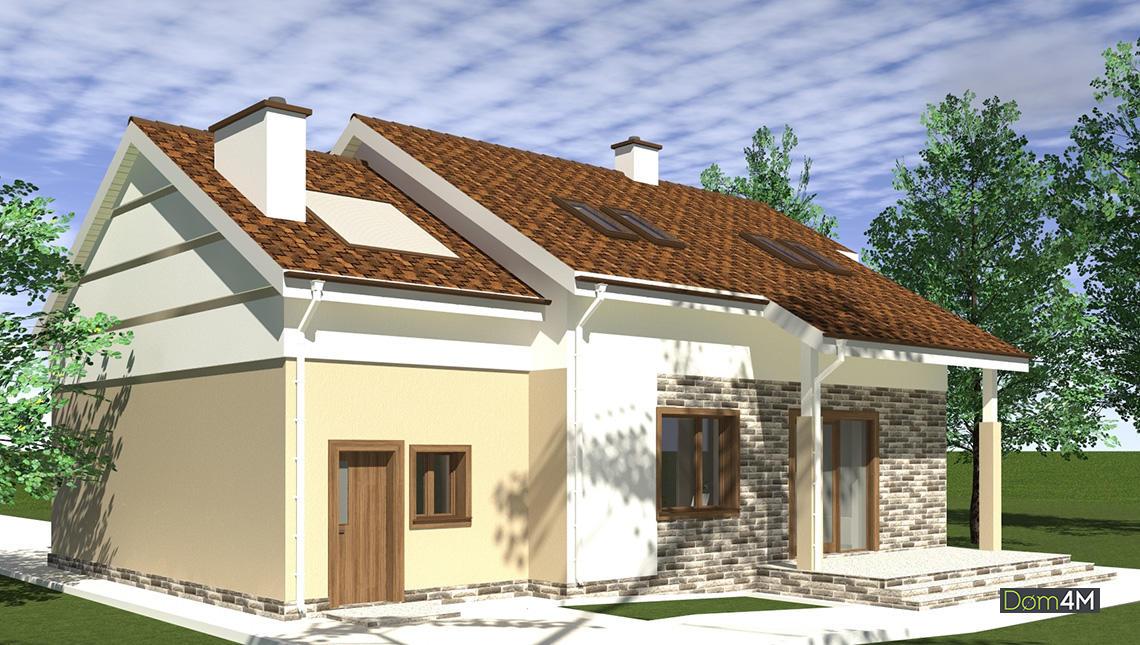 План стильного особняка в европейских традициях общей площадью 341 кв. м, жилой 231 кв. м