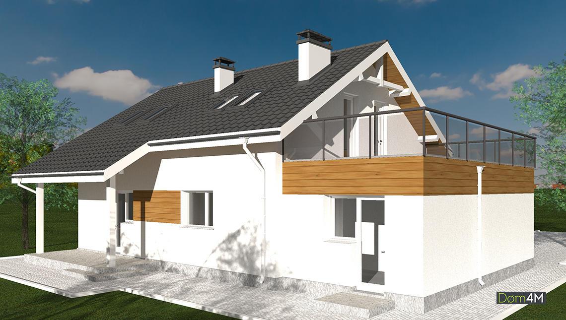 Двухэтажный дом в белоснежном исполнении, общей площадью 198 кв. м