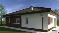 Проект компактного одноэтажного дома жилой площадью в 100 квадратов