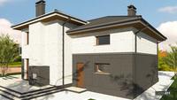 Величавый особняк из кирпича с мраморным декором жилой площадью 164 кв. м