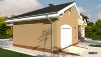 Проект эксклюзивного одноэтажного коттеджа с гаражом общей площадью 195 кв. м, жилой 95 кв. м