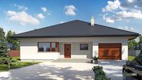 Проект европейского дома с гаражом для круглогодичного проживания