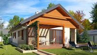 Проект одноэтажного дома жилой площадью в 103 квадрата для нестандартного участка