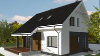 Проект  двухэтажного коттеджа в европейских традициях