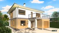 Проект симпатичного двухэтажного коттеджа жилой площадью 97 кв. м