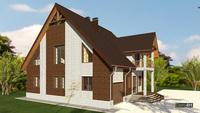Шикарный кирпичный дом со стильным декором жилой площадью 130 квадратов