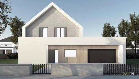Проект коттеджа с стиле барнхаус с цокольным этажом