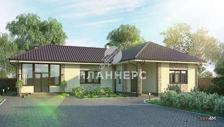 Загородный коттедж в европейском стиле с пятью спальнями общей площадью 151 кв. м, жилой 140 кв. м