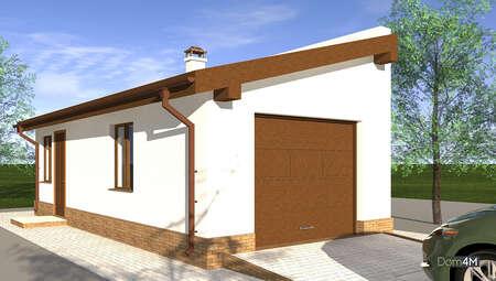 Проект гаража для автомобиля представительского класса с мастерской площадью 38 кв. м
