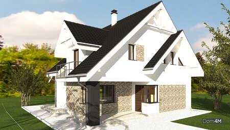 Схема дома площадью 174 кв. м с тремя спальнями