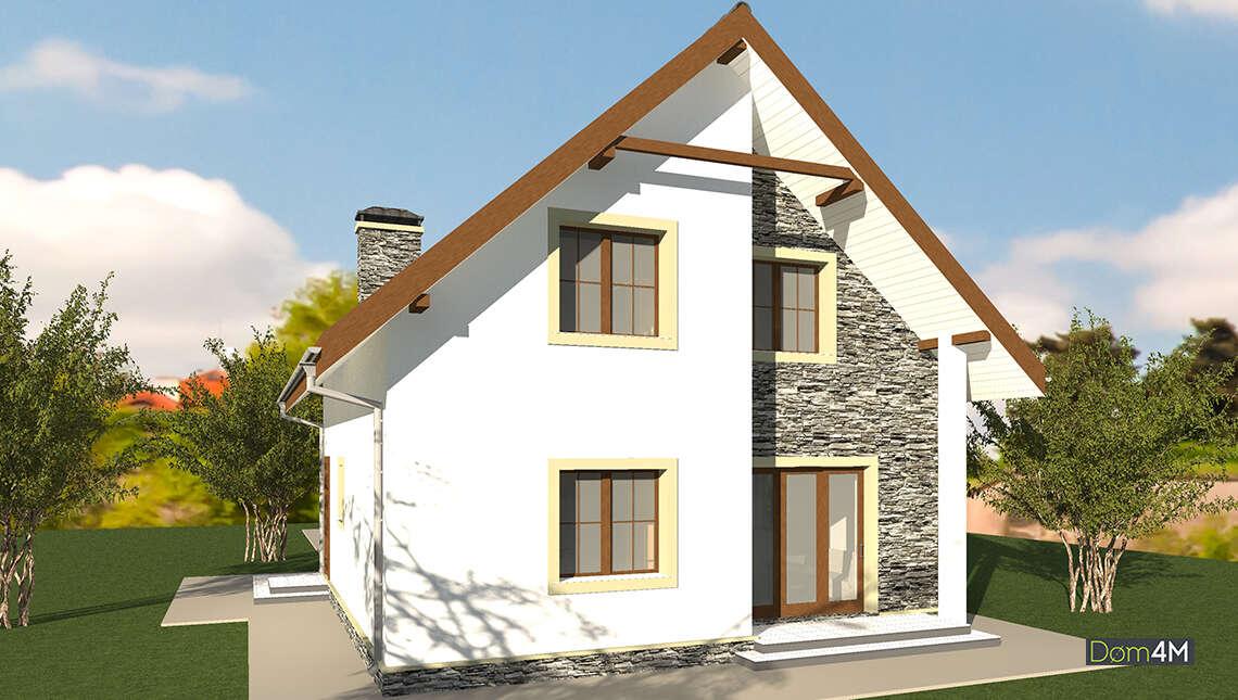 План компактного дома площадью 135 кв. м для большой и дружной семьи