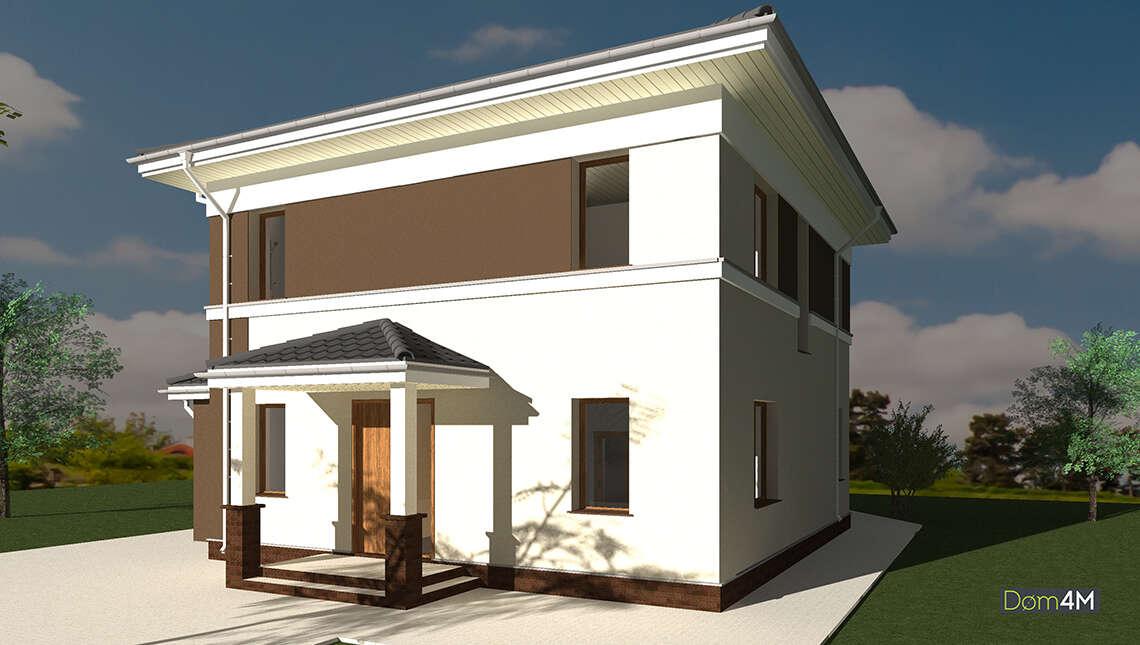 Проект великолепного дома в два этажа общей площадью 178 кв. м с крышей сложной формы