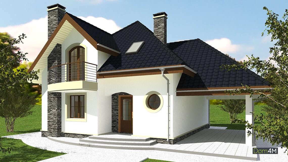 Просторный двухэтажный дом с четырьмя спальнями
