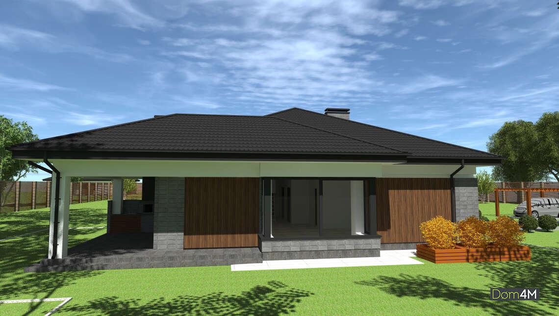 Проект дома площадью 172 кв. м для постоянного проживания или дачной застройки