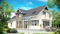 Большой просторный дом с красивыми балконами