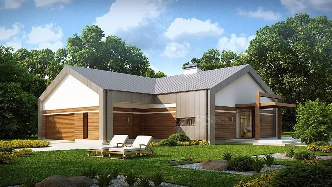 Оригинальный проект современного частного классического загородного одноэтажного дома