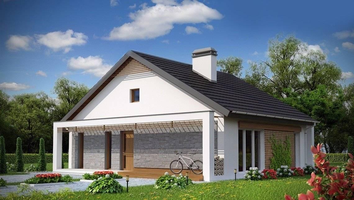 Проект дома 12*12 с фронтальной террасой