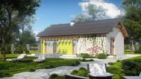 Уютный проект небольшой одноэтажной дачи