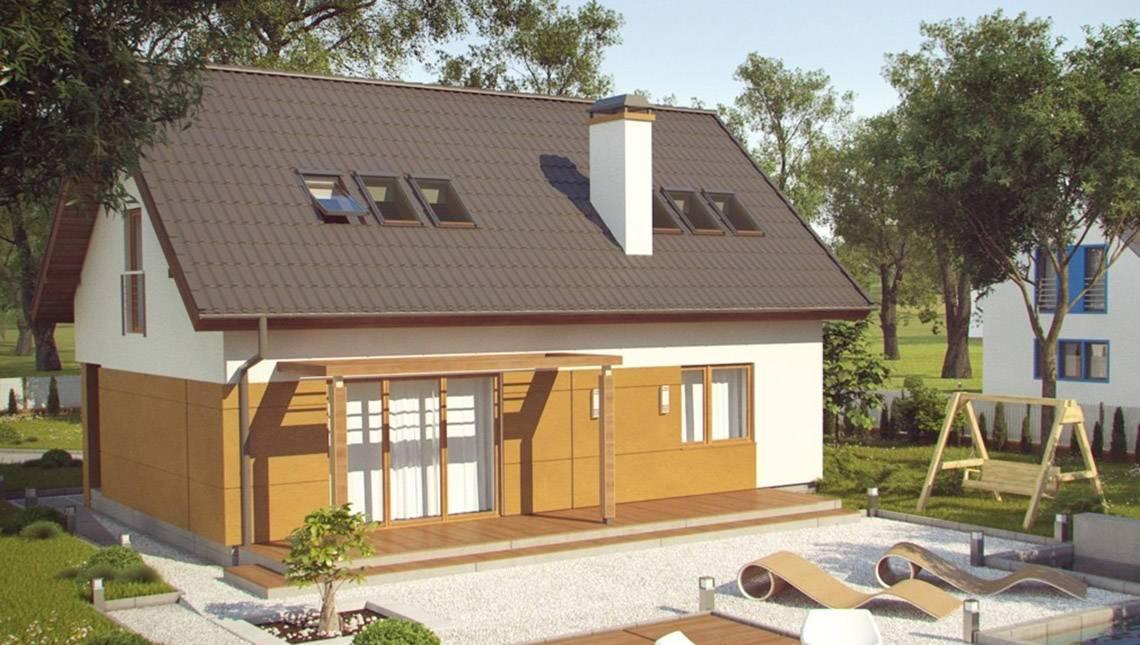 Проект энергоэффективного коттеджа с мансардой