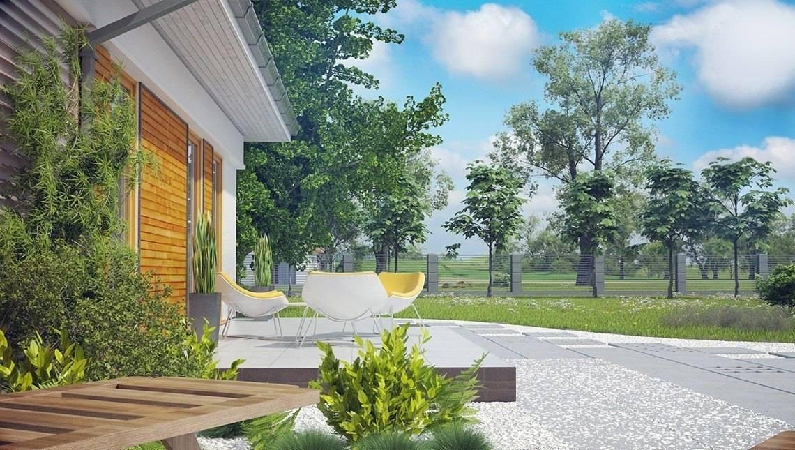 Проект 1 этажного дома с несколькими ванными комнатами