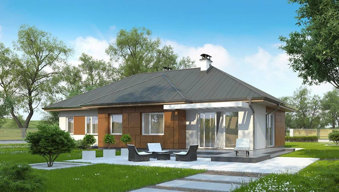 Проект классического компактного и удобного одноэтажного дома