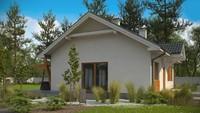 Проект простого одноэтажного дома в классическом стиле