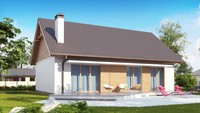 Проект одноэтажного экономичного и практичного дома