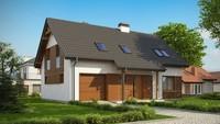 Проект симпатичного дома с гаражом